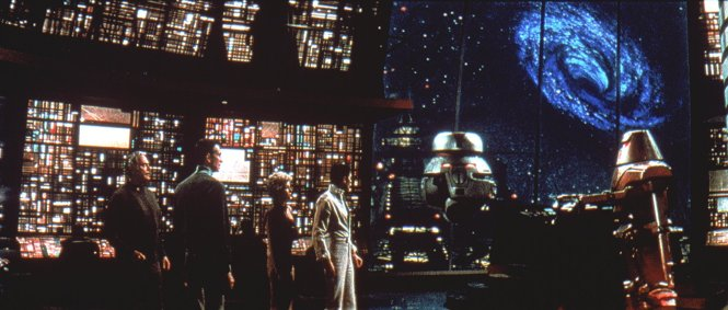 The Black Hole (1979) Maximilian and vincent face off control room