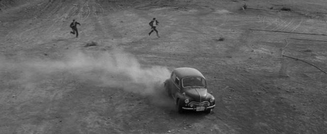 Branded to Kill (1967) 1952 Morris Minor gangster hitmen dirt dust