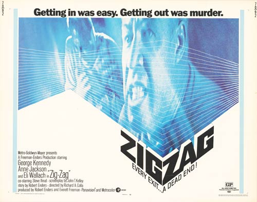 Zig Zag (1970) poster drama thriller george kennedy ranson mystery