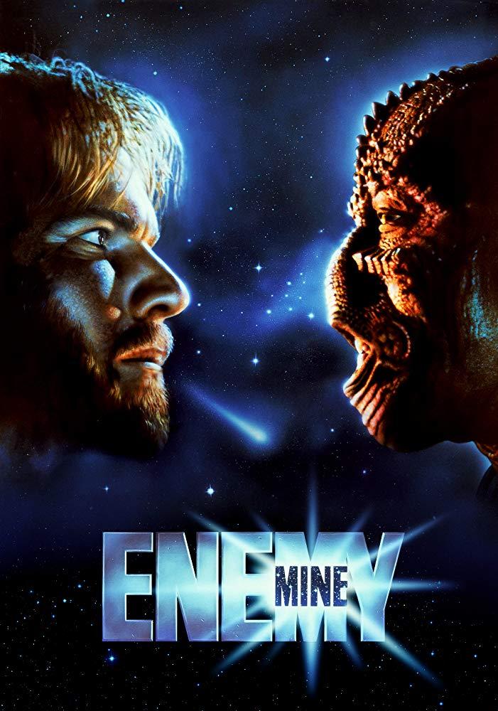 enemy mine (1985) louis gossett jr dennis quaid sci-fi alien buddy poster cover movie