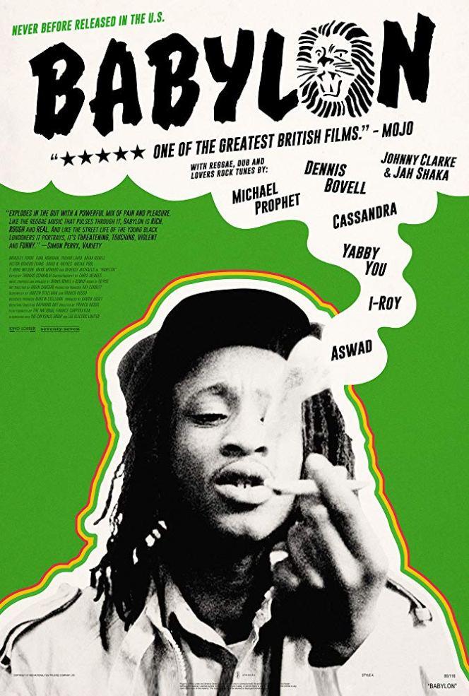 Babylon (1980) poster reggae film movie art work release dub