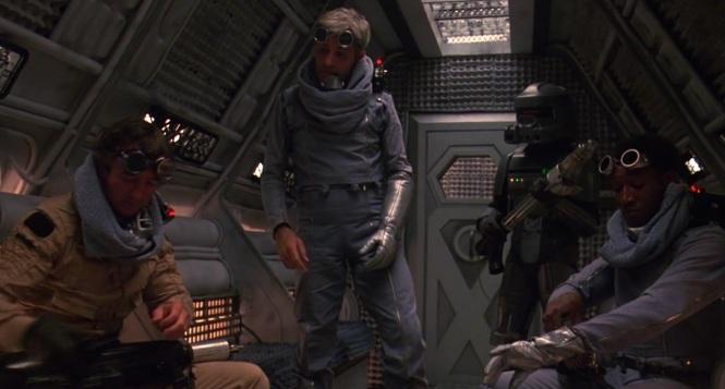 Forbidden World (1982) outside space ship geared up alien world mutant