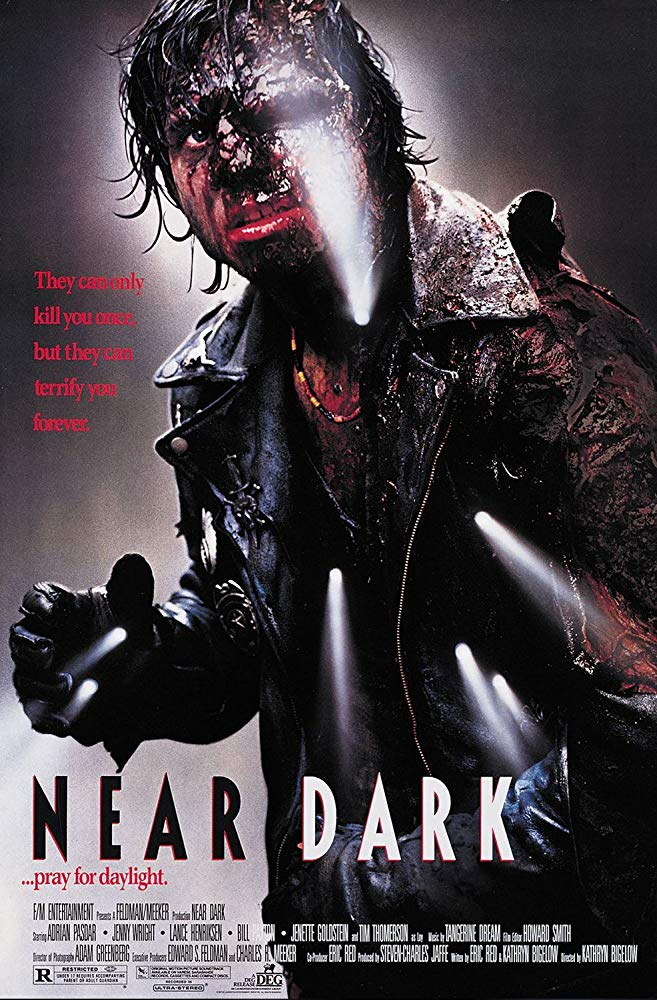 Near Dark (1987) dvd cover poster bill paxton burning mashed up