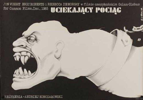 Runaway Train (1985) Jon Voight Buck McGeehy Eric Roberts Rebecca De Mornay polish poster